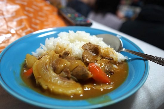 イノシシ肉のカレー