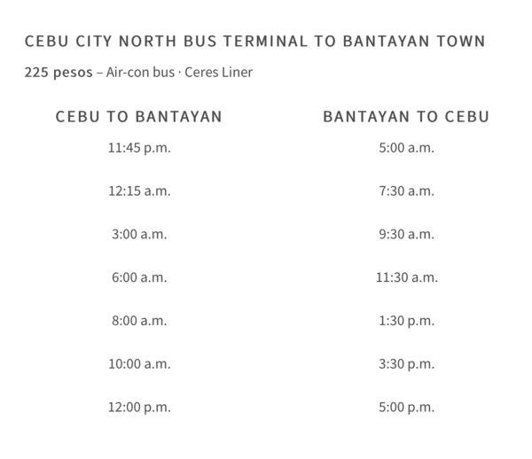 ノースバスターミナルからハグナヤまでのバス時刻表