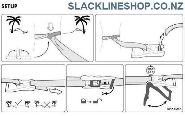 How to setup ratchet slackline set slacklineshop new zealand 2