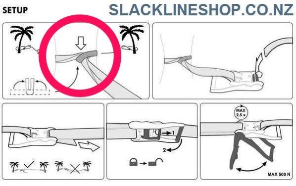 How to setup ratchet slackline set slacklineshop new zealand 3