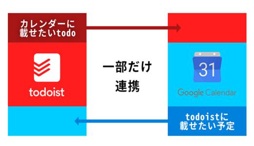todoistとGoogleカレンダーの「一部だけを」同期・連携する方法
